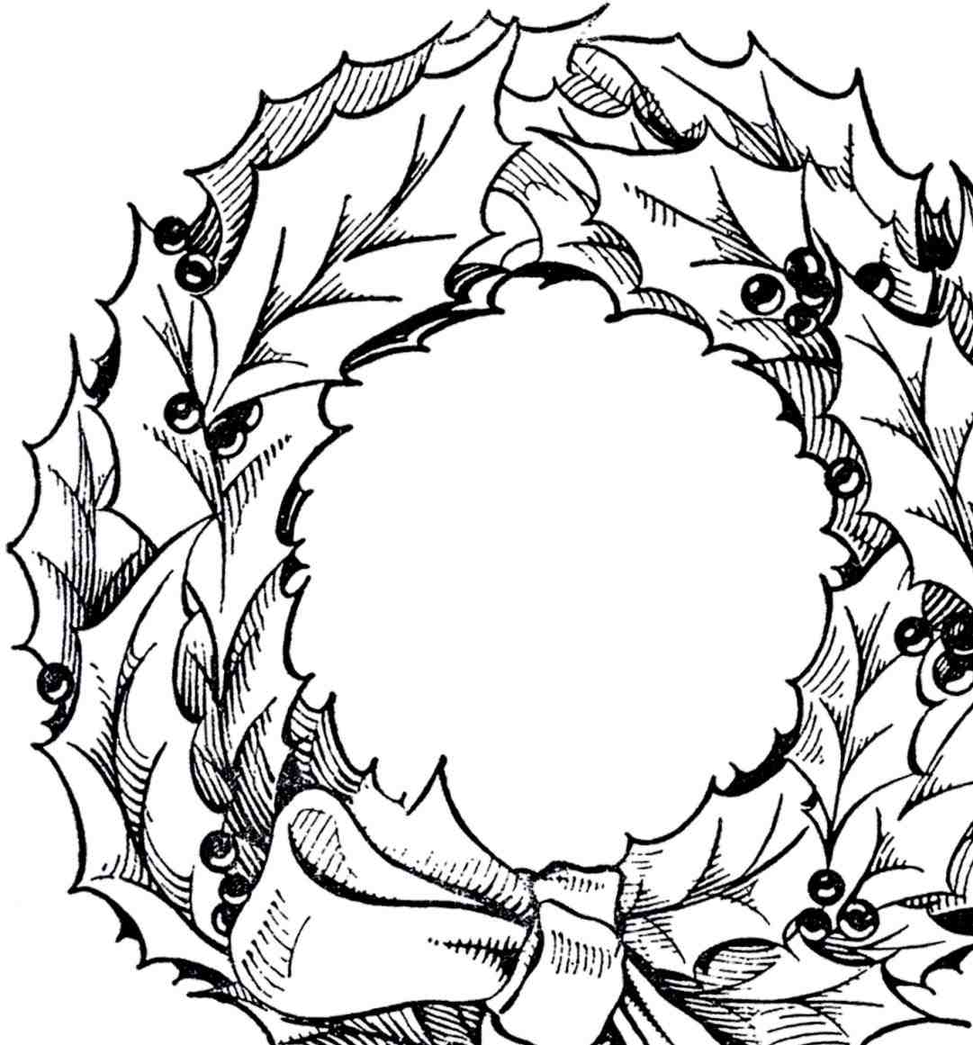 Wreath Clipart Black And White