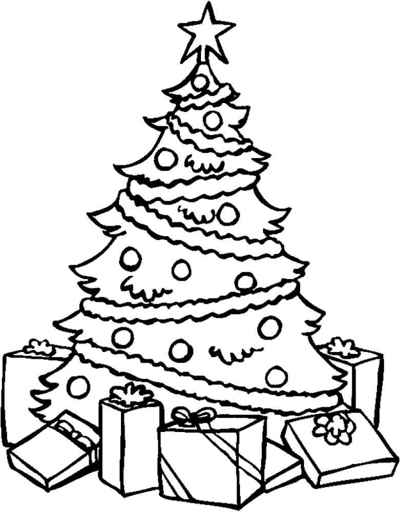 xmas tree coloring pages | free download best xmas tree coloring