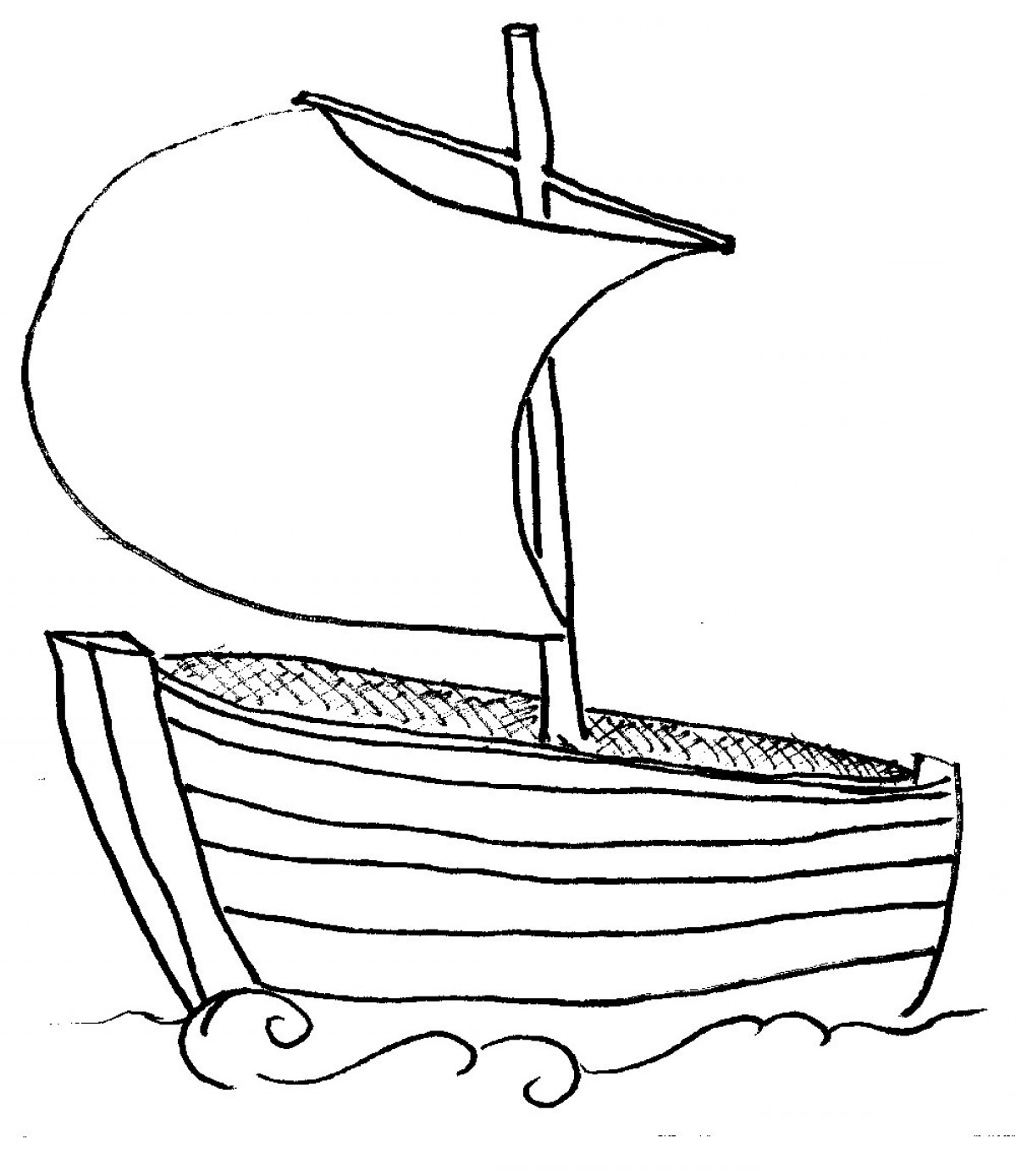 Yacht Clipart Black And White