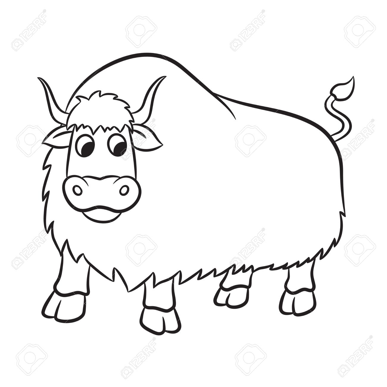 Yak Clipart Black And White