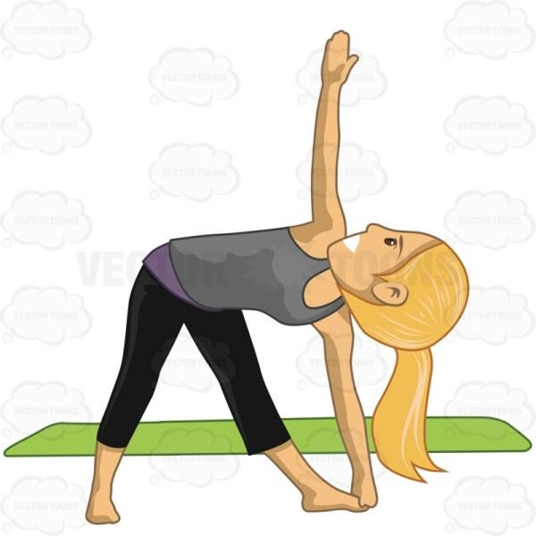 Yoga Girl Clipart Free