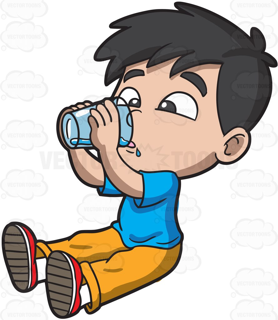 hight resolution of 890x1024 people clipart drinking water