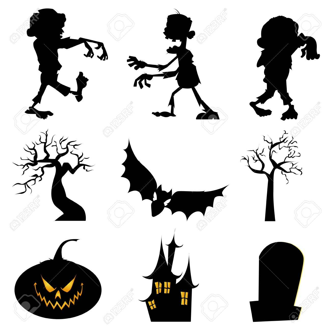 Zombie Silhouette Clipart