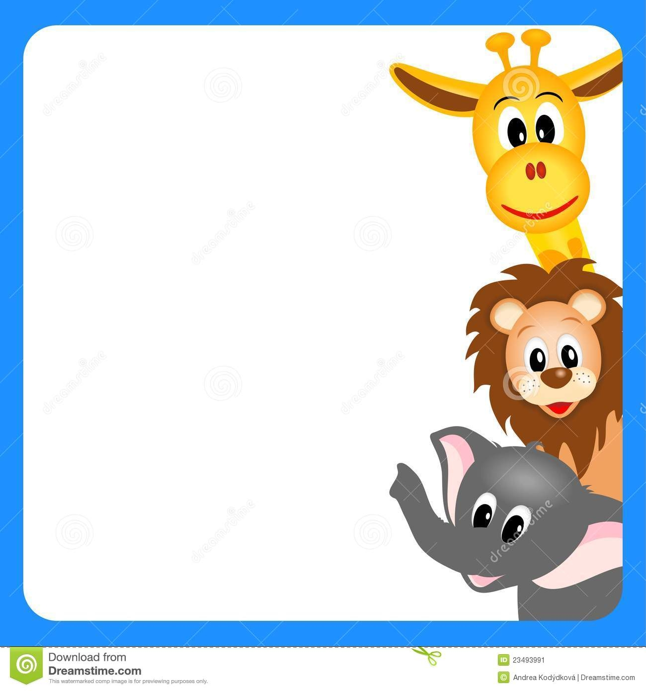 hight resolution of zoo animals together clipart