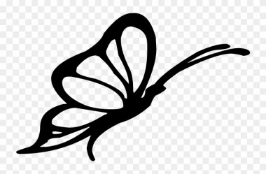 Clipart Illustration Butterfly Silhouette Pencil And Butterfly Silhouette Clip Art Black And White Free Transparent PNG Clipart Images Download