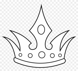 King Crown Clip Art Black And White Crown Line Art Free Transparent PNG Clipart Images Download