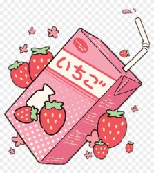 strawberry milk aesthetic kawaii pastel pink strawberries cute cigarettes food drawings drawing anime japanese illustration clipart carton stickers peach mimimi