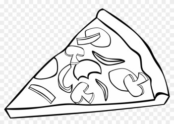Vector And Fast Food Clipart Black And White Png 755 Pizza Slice Clip Art Free Transparent PNG Clipart Images Download