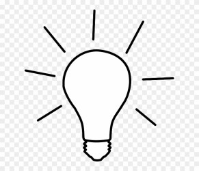 Light Light Bulb Electric Bulb Lamp Bulb Cartoon Black And White Light Bulb Free Transparent PNG Clipart Images Download