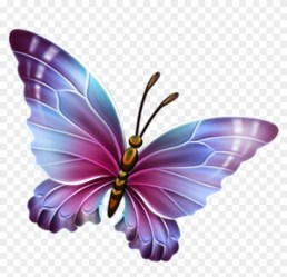 Free Butterfly Clipart Pink And Purple Butterfly Clipart Transparent Background Butterfly Clipart Free Transparent PNG Clipart Images Download