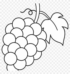 Grapes Clipart Grapes Black And White Lineart Free Fruit Clip Art Black And White Free Transparent PNG Clipart Images Download
