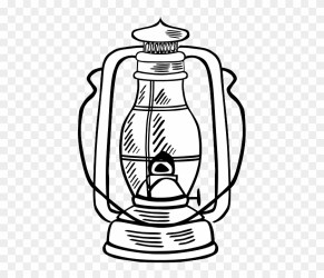 Outline Lamp Tool Hurricane Lantern Oil Work Oil Lamp Outline Free Transparent PNG Clipart Images Download