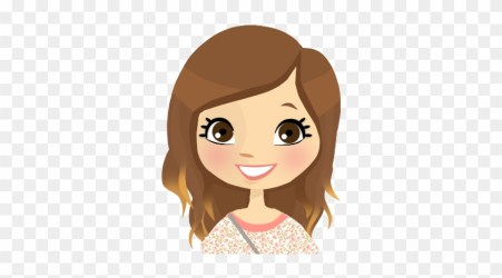 tip 3 Brown Haired Cartoon Girl Free Transparent PNG Clipart Images Download