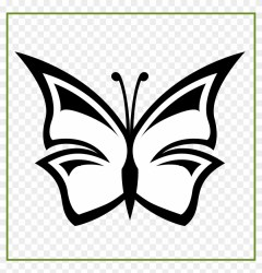 Incredible Line Art Butterfly Black White Coloring Clipart Flowers Black And White Simple Free Transparent PNG Clipart Images Download