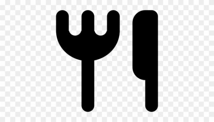 Restaurant Symbol Of Fork And Knife Silhouettes Vector Icon Free Transparent PNG Clipart Images Download