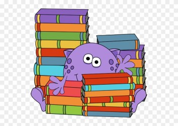 Monster Surrounded By Books Cute Monster Reading Clipart Free Transparent PNG Clipart Images Download