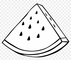 Clipart Simple Fruit Watermelon Fruit Clipart Black And White Free Transparent PNG Clipart Images Download