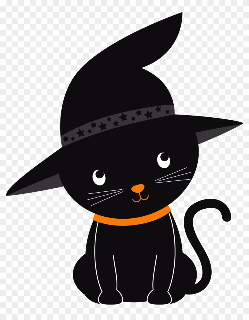 Black Cat Clip Art Free : black, Black, Halloween, Kitten, Transparent, Clipart, Images, Download