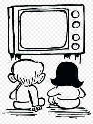 watching tv clipart drawing television cartoon child commercial clip easy drawings transparent pinclipart paintingvalley clipground