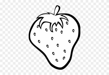 Strawberry Clipart Black And White Fruits Clipart Black And White Free Transparent PNG Clipart Images Download
