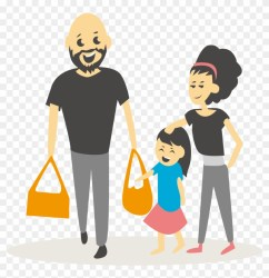 Family Shopping Illustration Family Cartoon People Shopping Png Free Transparent PNG Clipart Images Download