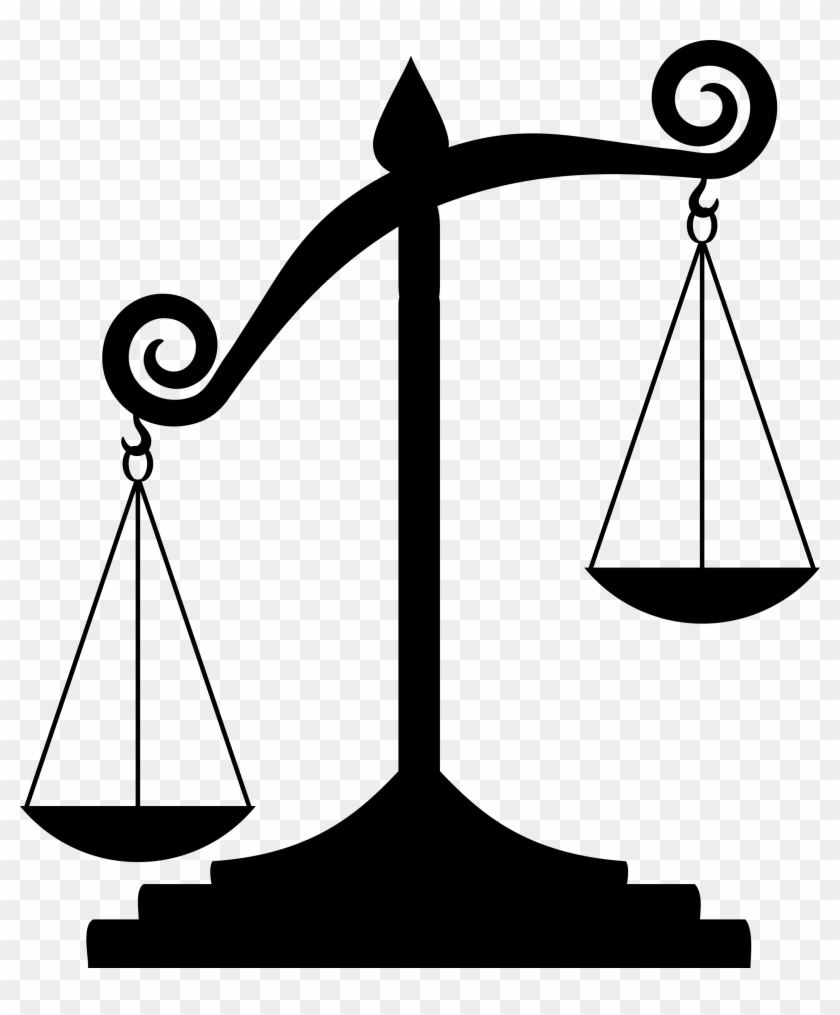 Free Clip Art Scales Of Justice : scales, justice, Scale, Silhouette, Unbalanced, Justice, Transparent, Clipart, Images, Download