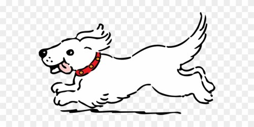 Dog Running Pet Happy White Tongue Dog Dog Dog Clipart Black And White Free Transparent PNG Clipart Images Download