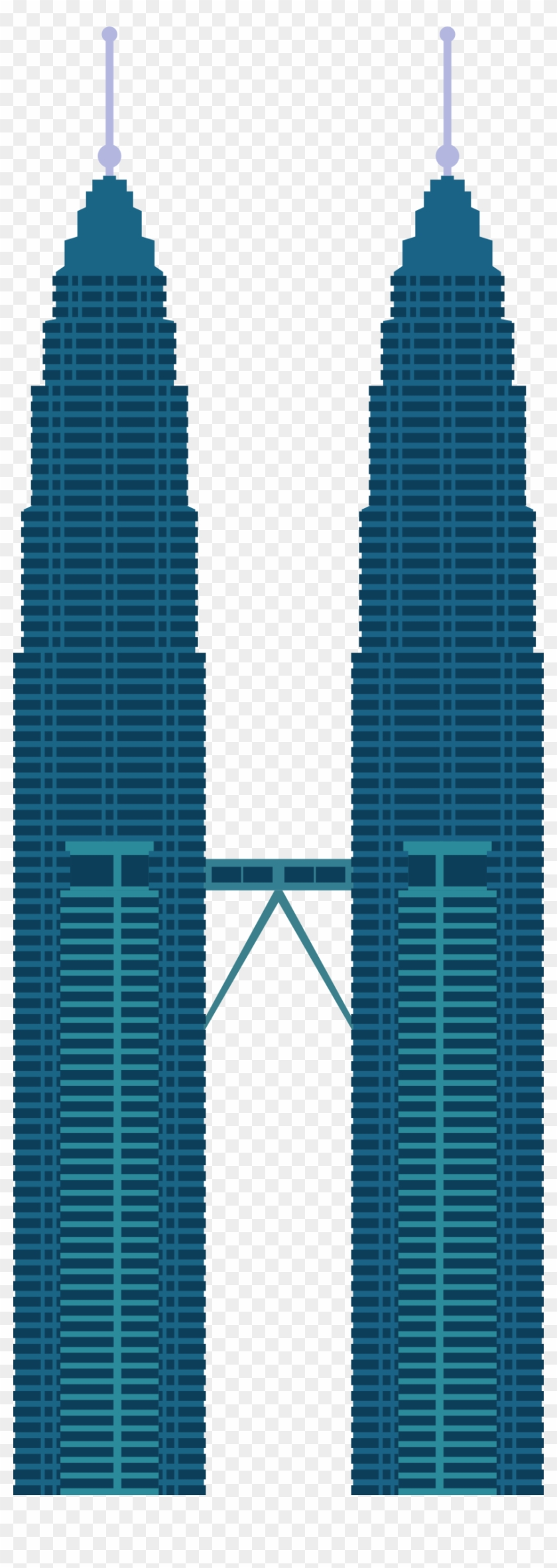 Twin Tower Png : tower, Image, Petronas, Towers, Vector, Transparent, Clipart, Images, Download
