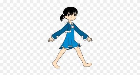 Educational Transparent Cartoon Girl Talking Gif