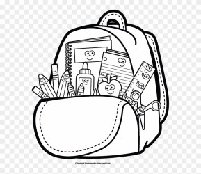 Back To School Clipart Black And White Free Transparent PNG Clipart Images Download