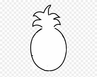 Pineapple Outline Clip Art Pineapple Outline Black And White Free Transparent PNG Clipart Images Download
