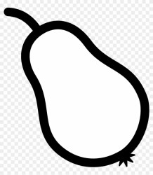 Cherry Clipart Black And White Pear Outline Free Transparent PNG Clipart Images Download