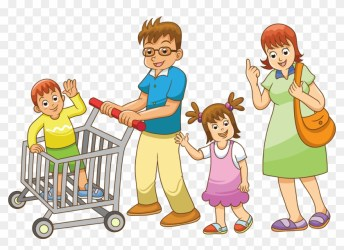 Royalty free Shopping Family Family Shopping Together Cartoon Free Transparent PNG Clipart Images Download