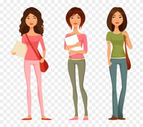 Sad Clipart College Student Cartoon Image Of A Teenage Girl Free Transparent PNG Clipart Images Download
