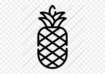 Pineapple Free Icon Easy Pineapple Stencil Free Transparent PNG Clipart Images Download