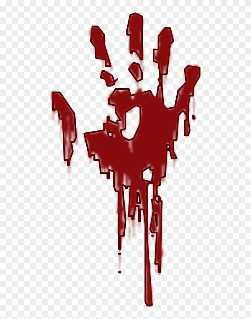 Blood Dripping Drawing : blood, dripping, drawing, Handprint, Drawing, Blood, Transparent, Clipart, Images, Download