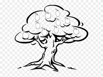 Mango Tree Clipart Black And White Outline Of A Tree Free Transparent PNG Clipart Images Download