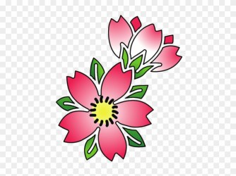 Free Png Download Cherry Blossom Flower Tattoo Outline Cherry Blossom Tattoo Flash Free Transparent PNG Clipart Images Download