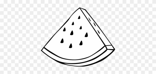 Watermelon Slice Clipart Black And White Fruit Clipart Black And White Free Transparent PNG Clipart Images Download