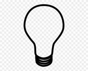 Lamp Clipart Black And White Black And White Cartoon Light Bulb Free Transparent PNG Clipart Images Download