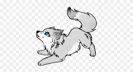 Wolf Puppy Howling Drawing Download Cute Baby Wolf Drawing Free Transparent PNG Clipart Images Download