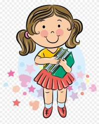 Student School Cartoon Girl Student Cartoon Free Transparent PNG Clipart Images Download