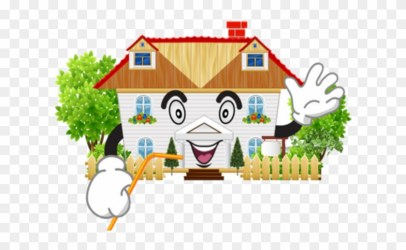Smiling House Garden Vector Free Transparent PNG Clipart Images Download