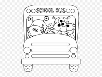 Black And White Monster School Bus Free Back To School Clipart Black And White Free Transparent PNG Clipart Images Download