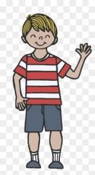 Child Boy Simple Black And White Clip Art Mensch Clipart