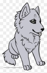 Baby Wolf Drawing Cartoons Free Transparent PNG Clipart Images Download