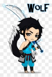 easy wolf anime drawings boy chibi drawing draw pup boys wings transparent hair