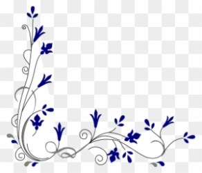 Wedding Flower Border Clipart