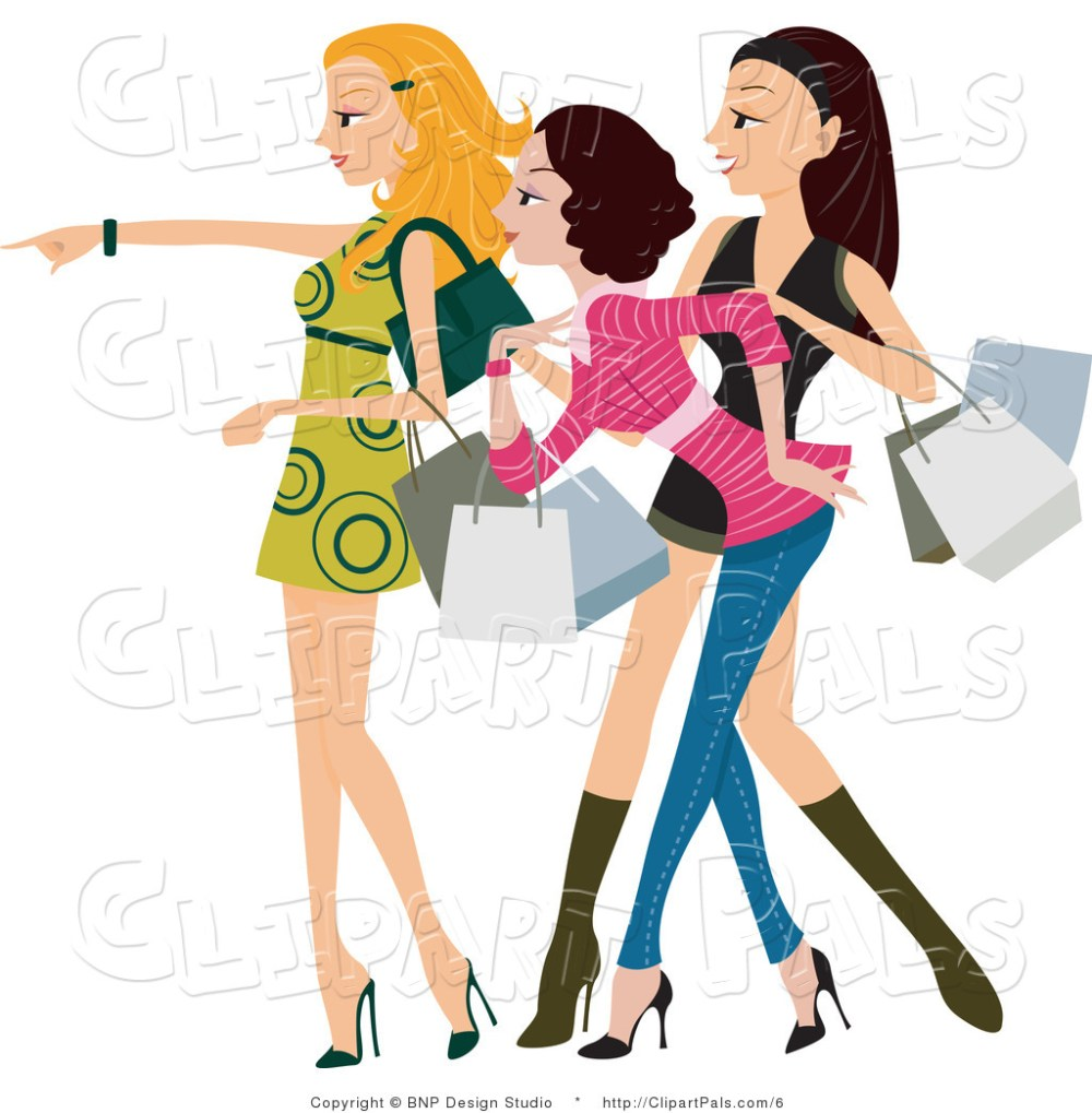 medium resolution of pal clipart of a fashionable young window shopping women looking and pointing