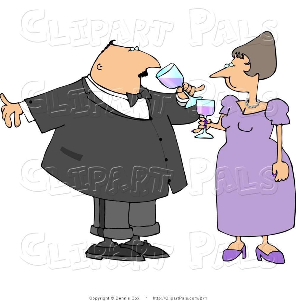 medium resolution of pal clipart of a husband and wife toasting wine at a party